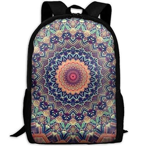 DKFDS Backpacks Tie Die Floral Mandala Unisex Print Backpack Canvas Bag School Student Bookbags Daypack Laptop ()