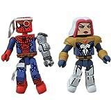 Diamond Select Toys Marvel Minimates Series 50 Fan's Choice Series Cyborg Spider-Man and Songbird Action Figure