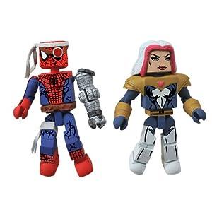 Diamond-Select-Toys-Marvel-Minimates-Series-50-Fans-Choice-Series-Cyborg-Spider-Man-and-Songbird-Action-Figure
