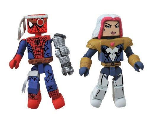 Diamond Select Toys Marvel Minimates Series 50 Fan's Choice Series Cyborg Spider-Man and Songbird Action -