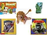 Children's Gift Bundle - Ages 3-5 [5 Piece] - Shrek Forever After Memory Game - Sky High Hopper Garden Starter Set - TY Beanie Baby - Roary the Lion - Thomas & Friends: Thomas and Gordon / Thomas' T