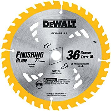 Dewalt dw3176 construction series 7 14 inch 36 tooth thin kerf dewalt dw3176 construction series 7 14 inch 36 tooth thin kerf finishing saw blade with 58 inch diamond knockout arbor circular saw blades amazon keyboard keysfo Images
