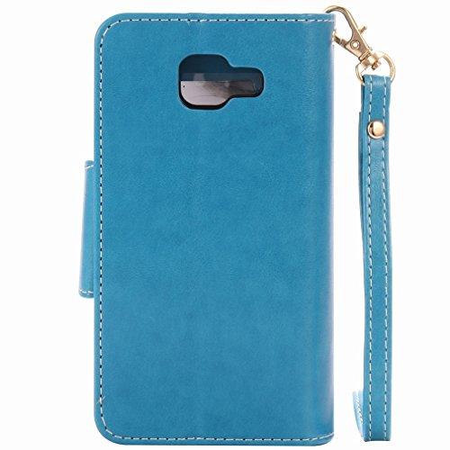 Yiizy Samsung Galaxy A3 (2016) A310 Funda, Chica Repujado Diseño Solapa Flip Billetera Carcasa Tapa Estuches Premium PU Cuero Cover Cáscara Bumper Protector Slim Piel Shell Case Stand Ranura para Tarj
