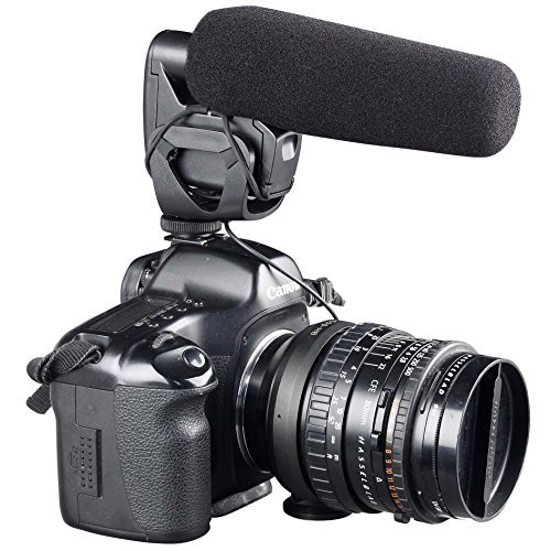 ATNY ATM-929 Shotgun Camera Video Microphone Super-Cardioid Directional Condenser Photography Interview Lightweight Video Microphone for Nikon/Canon Camera/DV Camcorder