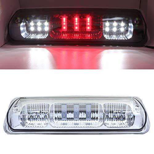 Rear Roof Center LED Third 3rd Brake Cargo Light, High Mount Stop Tail Light for 2004-2008 Ford F-150, 2007-2010 Ford Explorer Sport Trac, 2006-2008 Lincoln Mark LT (Chrome Housing Red Lens)