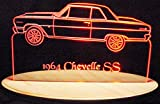 1964 Chevelle SS Acrylic Lighted Edge Lit 13'' LED Sign / Light Up Plaque 64 VVD1 Full Size USA Original