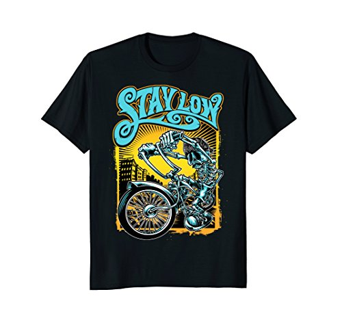 Stay Low Biker Shirt, Latino Skeleton Chopper T-shirt, - Custom Chopper Biker