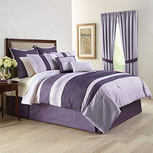 BrylaneHome Bedford 8-Pc. Comforter Set - Wisteria, - Comforter King Wisteria