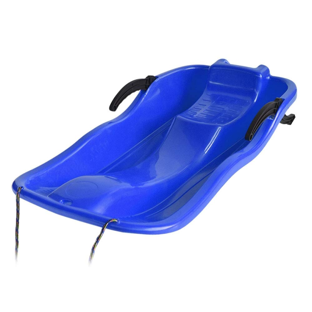 Winter Sledge Sled Toboggan Sleigh Snow Racer Winter 67-87cm Snowboard Sand Board Brake Thickened Sled Outdoor Sand Grass,Blue-87CM by GAOYY
