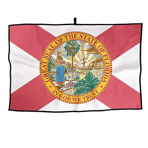 (Tina TN Florida State Flag Microfiber Golf Towel 15