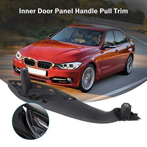 Partol Door Panel Handle For BMW 3 Series 4 Series, Inner Door Pull Trim Grab Cover Right Rear Door Armrest Bracket (Fits:BMW 320,325,328,330,335,340 2012-2018 and BMW 420,428,430,435,440 2014-2017)