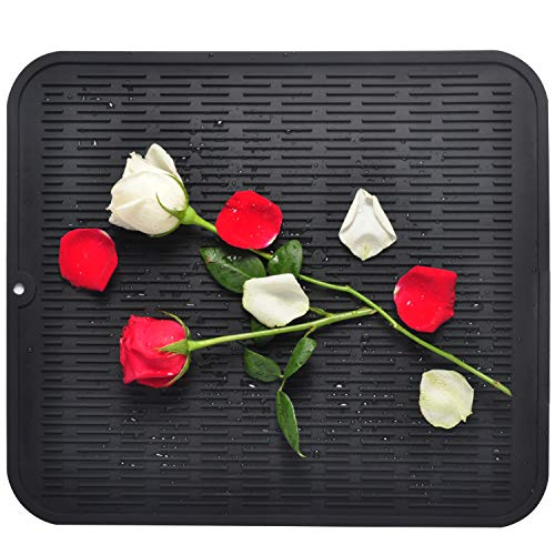 Dish Drying Mat, Silicone Drying Mats for Dishes Glasses - 18