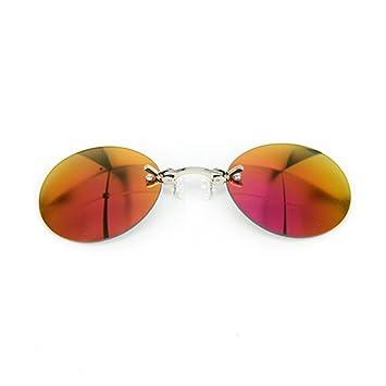 Gafas De Sol con Clip Gafas De Sol Retro Metal Hackers Mini ...
