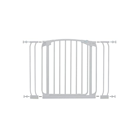 Amazon.com: Dreambaby Chelsea Auto Close Security Gate In White ...