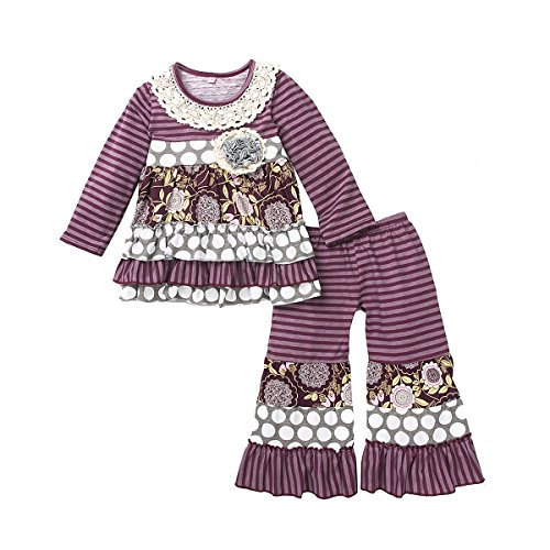 belababy Baby Girls Boutique Outfit Long Sleeve, 12-18 -