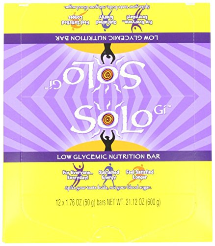 SoLo Gi Lemon Lift Bars, 1.76-Ounce Bars (Pack of 12)