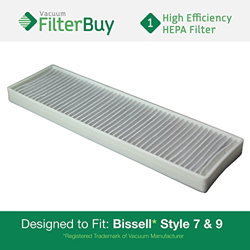 Generic Vacuum Hepa Filter (FilterBuy Generic Bissell Style 7 & 9 HEPA Compatible Filter, Part #32076. Designed by FilterBuy to fit All Bissell Style 7 & 9 Upright Vacuum Cleaners)