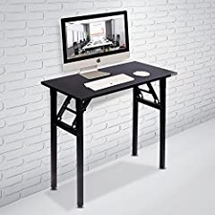 This folding desk is very stable and sturdy, weight is only 17-7/8 LBS, and the volume after folding is less than 2 cubic feet. Open when you used, without assembly. After folding, the thickness is only 4-1/2 inches. This folding desk can be ...