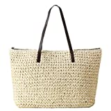 eYourlife2012 Women's Classic Straw Summer Beach Sea Shoulder Bag Handbag Tote