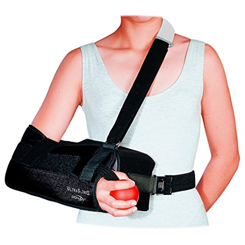 DonJoy 11-0449-3-06000 UltraSling II Shoulder Immobilizer, Black,