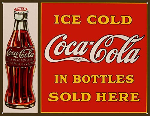APCA Tin Sign Coke Sold Here in Bottles TIN Sign 7.8X11.8 INCH
