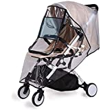 Bemece Stroller Rain Cover Universal + Mosquito Net (2-Piece Set), Baby Travel Weather Shield …