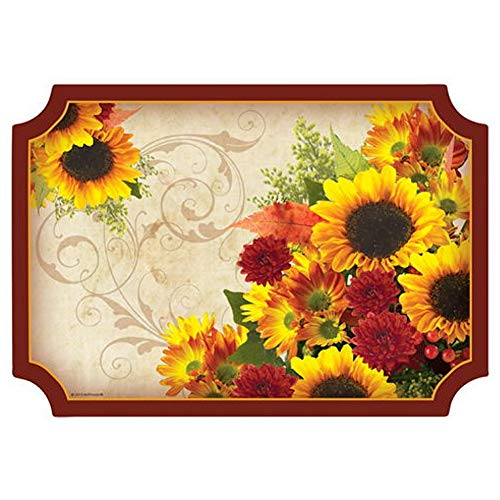Autumn Floral Paper Placemats - 9.75in. X 14in. - Placemats Paper Inch 14