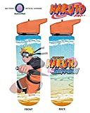 32oz Naruto Shippuden OFFICIAL Orange Uzumaki Naruto Sports and Fitness Training PREMIUM Water Bottle (BPA-Free)