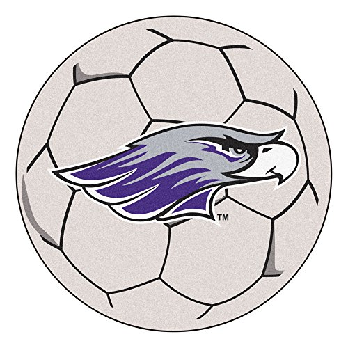 NCAA University of Wisconsin-Whitewater Warhawks Soccer Ball Mat Round Area Rug by Unknown