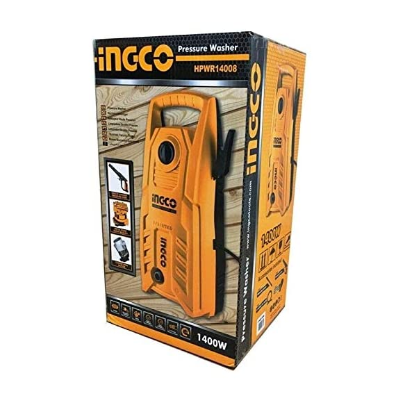 INGCO High Pressure Washer (1400 W) for Car and House Washing 2