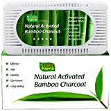 Image of Best Activated Charcoal Odor Remover and Absorber - Effective Closet Deodorizer and Natural Air Filter - Pet Odor Eliminator and Air Purifier - Prevents Mold and Bacteria - Reusable for 2 Years