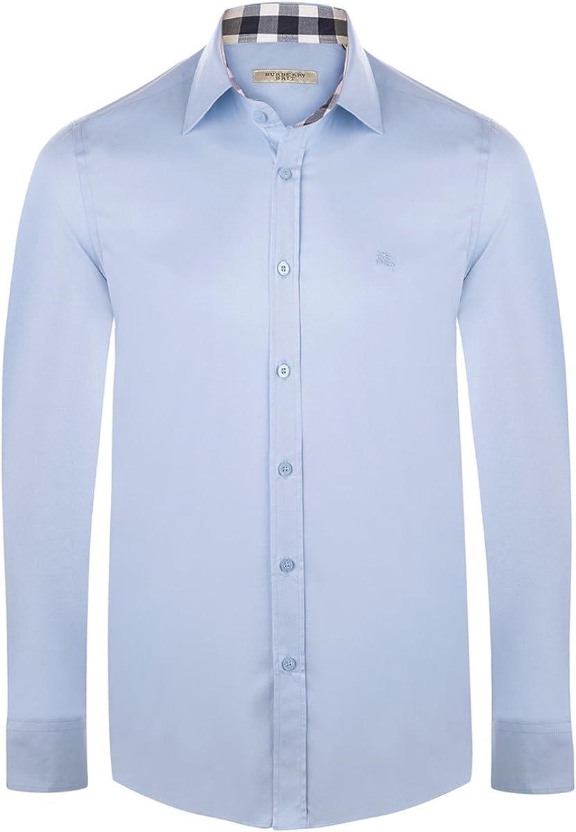 BURBERRY brit – Hombre Camisa/Camiseta – Slim Fit – Azul claro – GR L: Amazon.es: Ropa y accesorios