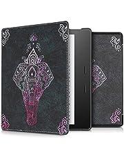kwmobile hoes compatibel met Amazon Kindle Oasis 10. Generation - Case voor e-reader in roze/antraciet - Olifantentekening