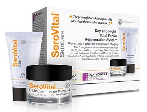 SANMEDICA INTERNATIONAL SeroVital Day and Night Total Facial Rejuvenation System- Cream Ready to Visibly Lift, Tighten, and Firm Skin, Improve the Look of Wrinkles and Crow's Feet (1.5 oz/1.3 oz)
