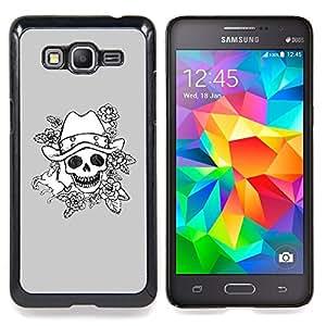 - Evil Emo Dark Rock Grey Poker/ Duro Snap en el tel????fono celular de la cubierta - Cao - For Samsung Galaxy Grand Prime G530H G5308