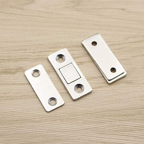 Teekit 2Pcs Magn/ético Ultra Thin Door Catch Latch para Muebles Gabinete Armario de Vidrio