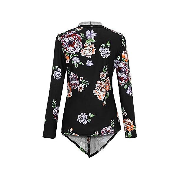 XOWRTE Women's Printing Plus Size Open Fall Jacket Cardigan Blazer Outwear Coat