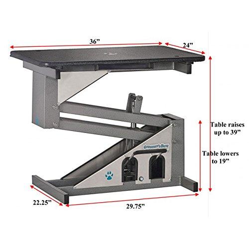 Groomers Best Hydraulic Grooming Pet Table Heavy Duty Stainless Steel 24'' x 36''