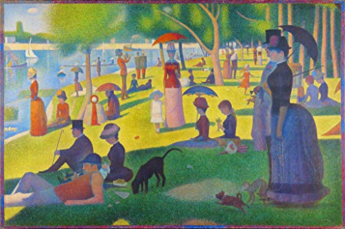 Georges Seurat Sunday Afternoon On Island of La Grande Jatte Art Print Cool Wall Decor Art Print Poster 36x24 (A Sunday Afternoon On The Grande Jatte)