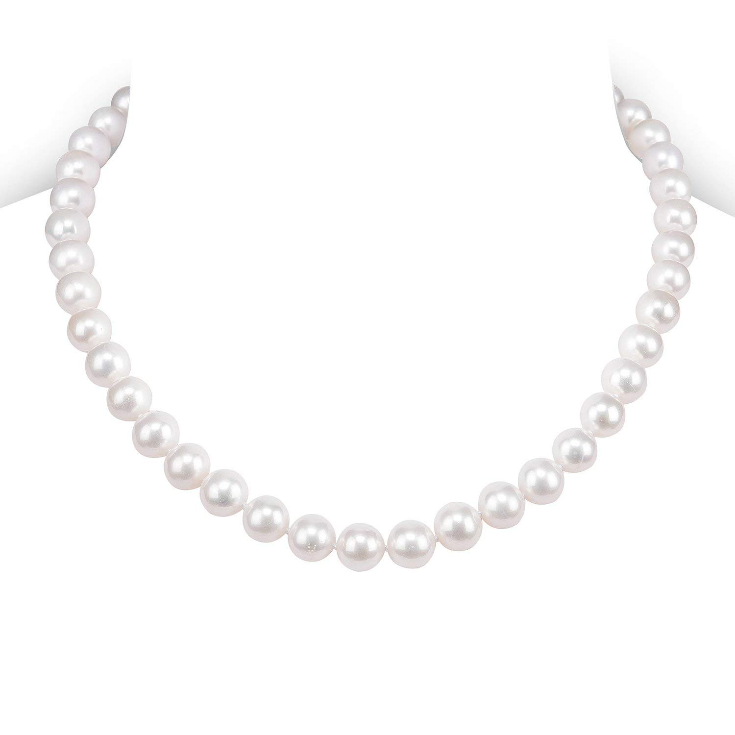 PAVOI Handpicked Freshwater Cultured Pearl Necklace Strand - High Luster White 5mm) NECKFC165