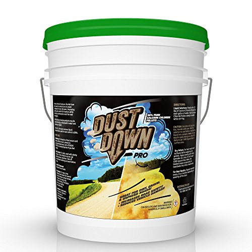 Dust Control Spray - FDC 96% Pure Calcium Chloride DUST Down PRO Pellets (Controls dust on unpaved Dirt & Gravel Roads) 5 Gallon Pail