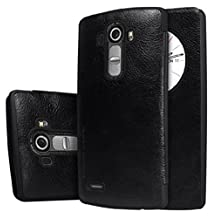 "Quick Circle Case for LG G4 H815 H810 Nillkin Slim Flip Leather Cover Smart Sleep Wake Protection Shell for LG G4 5.5 ""(Black)"