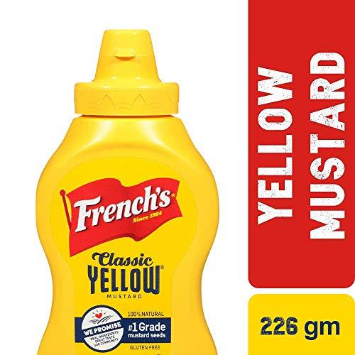 Frenchs Yellow Mustard - French's Classic Yellow Mustard Sauce, Ground Yellow Mustard, Gluten Free, 8 oz