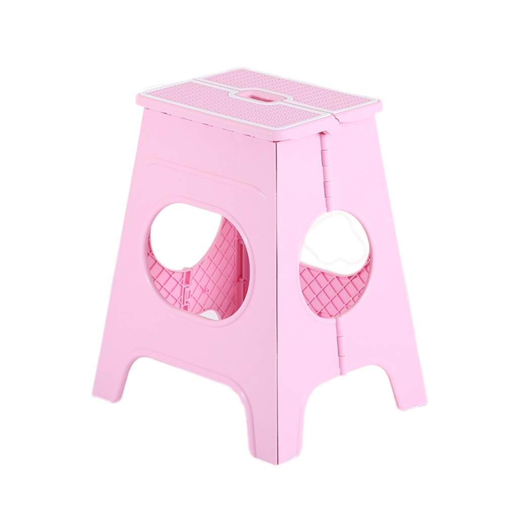 Pink Bathroom Stools, color Plastic Foldable Stool Sturdy Heightening Stepping Stool Restaurant Stool Living Room Stepping Stool (color   bluee)