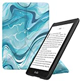 MoKo Case Replacement with Kindle Paperwhite (10th Generation, 2018 Releases), Standing Origami Slim Shell Cover with Auto Wake/Sleep Fits Kindle Paperwhite E-Reader - Blue Water Color