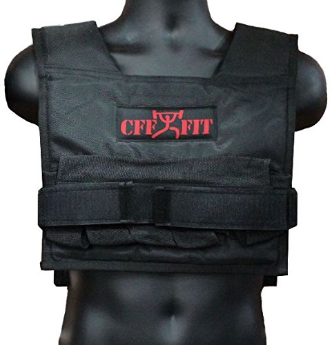 CFF Adjustable Weighted Short Vest 22 Lbs (10 kg) - Great for Cross Training, Running & Fireman Training 6449