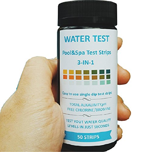 4-Way Pool and Spa / Hot tub Test Strips - 50ct - Free Chlorine, Bromine, Alkalinity, pH tests