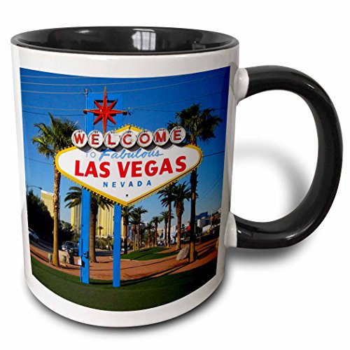 3dRose Welcome To Fabulous Las Vegas, Nv Two Tone Black Mug, 11 oz, - Nv Outlets In Vegas