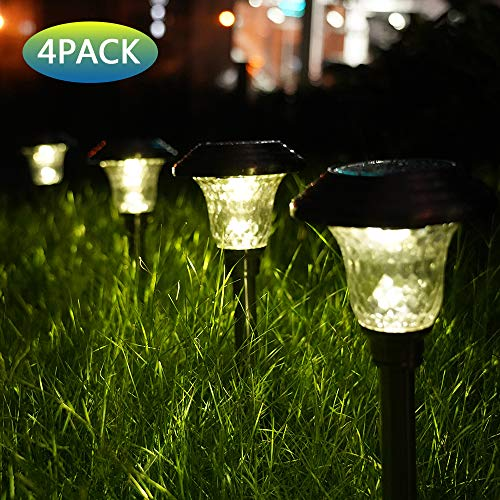 Oval Glass Insert - Mosolar Solar Pathway Lights Outdoor Solar Garden Llights Glass Stainless Steel Walkway Lights Landscape Lighting for Lawn/Patio/Yard/Walkway/Driveway(Bright White)