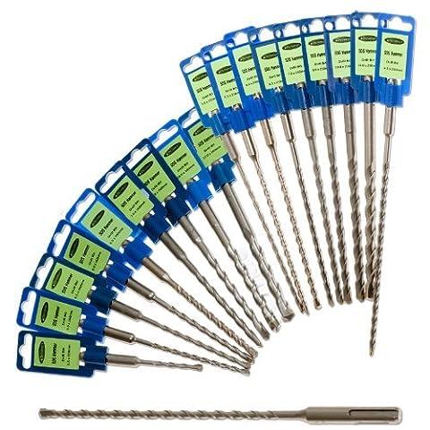 1 x SDS Plus Masonry Hammer Drill Bit, 12mm x 210mm - a Sintered Carbide SDS + Plus Masonry Hammer Drill Bit by Truly PVC (12mm Sds Drill Bit)